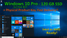 New 120GB 2.5 Solid State Hard Drive + Activated Windows 10 Pro (Sata, 6.0Gbps)
