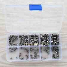 200 Pcs Assortment Kit Stainless Steel Hex Socket Set Screw New with Box