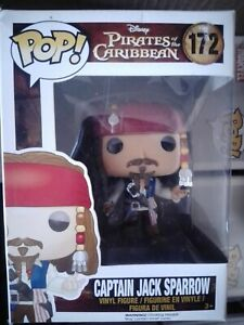 Pirates of Caribbean Funko Pop 172 Captain Jack Sparrow + Protector - VAULTED