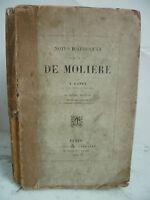1851A Bazin Notas Históricos En La Vida Molière 2è Edición Techener 1851