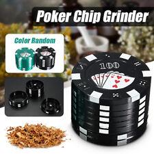 3 Layers Cigarette Smoke Herb Grinder Poker Chip Metal Crusher Catcher 3x4cm