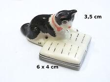 chat sur un livre,miniature de collection,décoration,animal, cat,kat,poes *S3-1