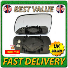 Left Passenger Near Side Heated Wing Door Mirror Glass for PEUGEOT 307 2001-2008
