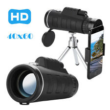 40x60 Zoom Optical HD Lens Monocular Telescope Tripod Clip for Universal Phone