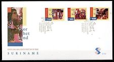 Suriname - 1999 Youth / Paintings - Mi. 1716-18 clean unaddressed FDC