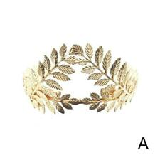 Headband Goddess Leaf Flower Girl Hair Crown Head Piece Gold Band Bridal