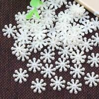100X Snowflake Flatback Christmas Crafts DIY Party Decor accessories