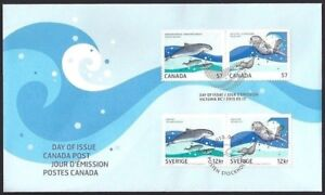 Canada    # 2387 abcd     Marine Life - Joint Issue   New 2010 Unaddressed Issue