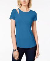 INC Womens True Teal Cutout-Shoulder New Blouse Sz XL MSRP $39.50 {&}