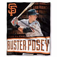 """MLB San Francisco Giants Buster Posey 50""""x 60"""" High Definition Silk Touch Throw"""