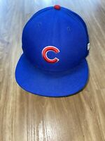 New Era Chicago Cubs Fitted Hat World Series 2016 7 1/2 Blue