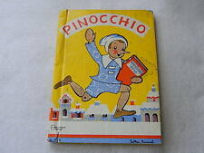 Vintage Pinocchio-Published by Rand McNally 1940-Illustration by Esther Friend