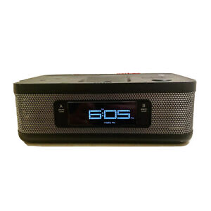 Memorex MI4703PBLK iPhones And iPod Dock Radio Alarm Clock Tested & Working