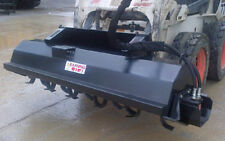 "Skid Steer Tiller 68"" - Universal Mount - 6"" Depth - Rotates Forward and Reverse"