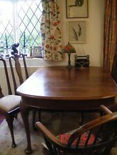 Old dinning room extending table and six chairs.