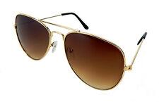 Ella Jonte Retro Sonnenbrille gold braun Herren Damen Pilotenbrille Vintage