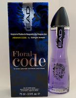 EAD Floral Code Armani Code for Women 2.5 oz 75ml Eau De Toilette Spray New