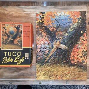 Vtg GOLDEN PHEASANT Thick 200pc TUCO 1930-40's THICK Puzzle CHALLENGE!