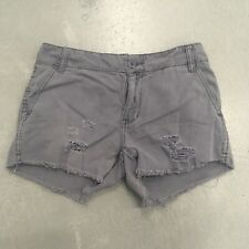 BDG Urban Outfitters Gray Shorts Cut Off Distressed Women's Size 25 Raw Hem