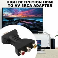 AV Digital Signal HDMI To 3 RCA Audio Adapter Component Converter Video *