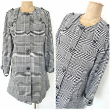 Orvis Wool Trench Jacket Size Medium Plaid Career Business Winter Coat Womens