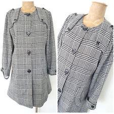 Orvis Wool Jacket Size Medium Plaid Long Business Winter Coat Womens