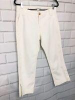 Banana Republic Women's Martin Fit White Capris Cropped Pants Size 10