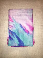H&M Purple Pink And Turquoise Light Scarf