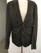 DIESEL Mens Green Gray Jacket Blazer Casual Knock Around Structured Fit Sz Large