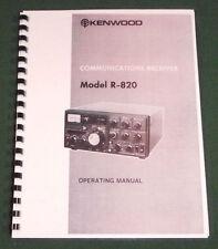 Kenwood R-820 Instruction Manual - Premium Card Stock Covers & 28 LB Paper!