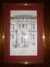 Vintage Architectual Pencil Drawing by Fred Williams (1930-86) Framed Art PRINT