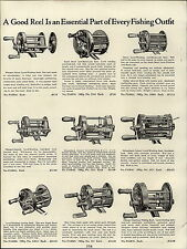 1937 PAPER AD Pflueger Fishing Reel Blue Grass Meisselbach Catucci