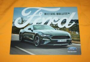 Ford Mustang Bullitt 2018 Prospekt Brochure Prospetto Catalog Folder