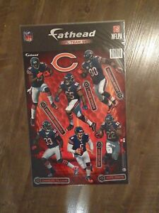 BRAND NEW! NFL CHICAGO BEARS 6 FATHEAD TEAMMATES WALL DECALS!