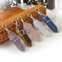 Cool Natural Crystal Quartz Healing Point Chakra Bead Stone Pendant for Necklace