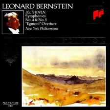 Leonard Bernstein: Beethoven: Symphonies No. 4 & 5 Egmont Royal w/ Art MUSIC CD
