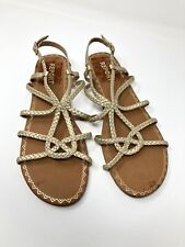 Report Women's Gina Gold Strappy Shoes Sandals Open Toe Size 9.5 1650