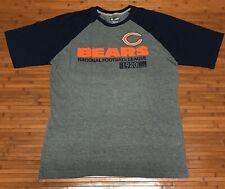 Nfl Team Apparel Chicago Bears Mens Raglan T-Shirt Sewn Logo Size Large Nwot