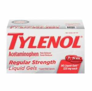 TYLENOL Acetaminophen 325mg Regular Strength Liquid Gels - 90 Count