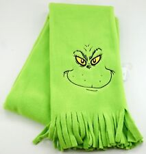 New Universal Studios How The Grinch Stole Christmas Green Embroidered Scarf
