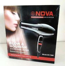 NOVA Professional Electric Hair Dryer (Black) 2500 W Model NV-7080 Speed Control