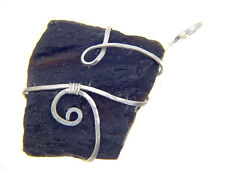 BUTW Sterling Silver Wire Wrapped Natural Tibetan Tektite pendant SP chain 2537P