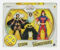 "STORM & THUNDERBIRD Marvel Legends NEW 2 pack 6"" inch X-MEN action figures 6 six"
