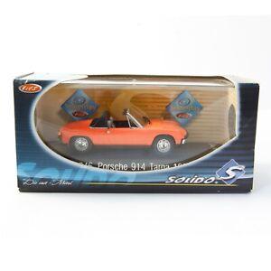 NEW OLD STOCK - 1969 VW PORSCHE 914 TARGA - SOLIDO 1846 1:43 METAL DIE CAST 1OF2
