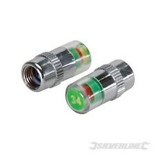 TYRE PRESSURE GUARD SET OF 2 SILVERLINE KEEPS A VISUAL CHECK ON TYRE PRESSURES