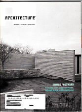 Architecture Magazine March 2006 Argentina Obra House Shenzhen Martha's Vineyard