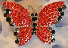 Dolly-Bijoux Fantaisie Grosse Bague Papillon Pavé Cristal Swarowsky 60mm