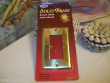 Ives Architect Single GFCI Cover Plate Solid Brass Nos