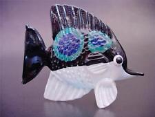 Vidrio ballena asesina orca ornamento de cristal pintada a Blanco y Negro Cristal Animal Regalo