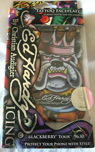 ED HARDY ICING KING BULL DOG CELL PHONE FACEPLATE BLACKBERRY 9630 KING DOG